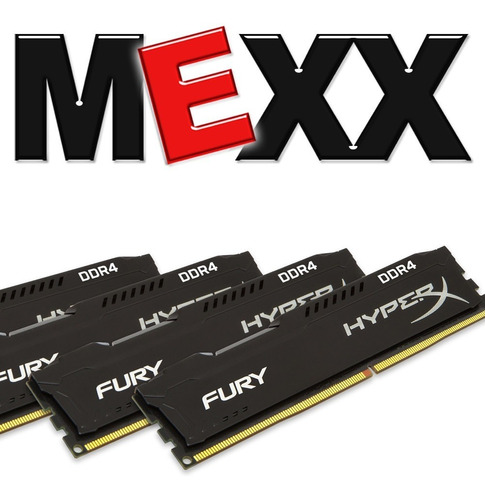 memoria pc ddr4 kingston hyperx fury 8gb 2400mhz mexx 2