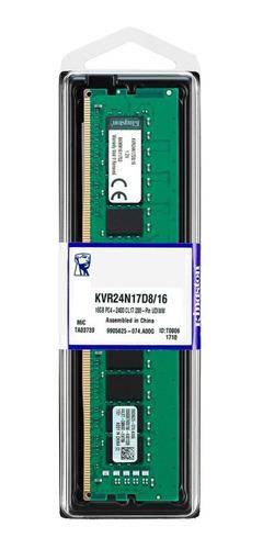 memoria pc ddr4 kingston value ram 16gb 2400mhz  1