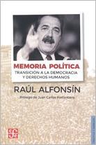 memoria política, raúl alfonsín, ed. fce