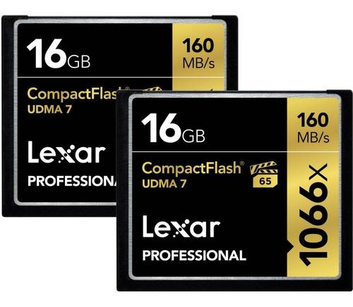 memoria profesional compac flash lexar 16gb 1066x udma 7