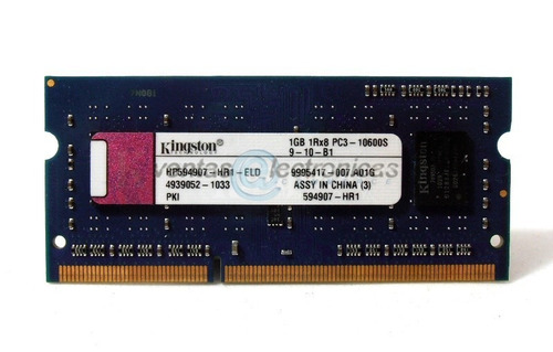 memoria ram 1gb 1rx8 pc3 kingston ipp4
