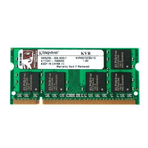 memoria ram 1gb 667mhz ddr2 kvr667d2s5/1g kingston