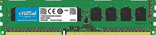 memoria ram 2gb crucial single ddr2 667mhz (pc2-5300) cl5 unbuffered udimm 240-pin modulo ct25664aa667