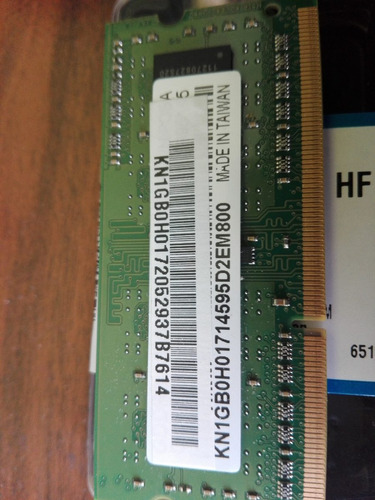 memoria ram 2gb ddr2 corsair para laptop