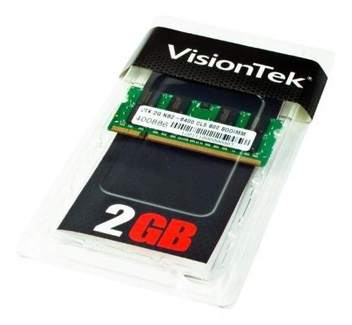 memoria ram 2gb visiontek ddr2 800 mhz (pc2-6400) cl5 sodimm - 900468