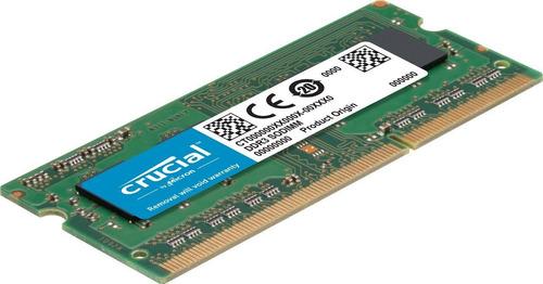 memoria ram 32gb (2x16gb) ddr3 1600mhz sodimm crucial