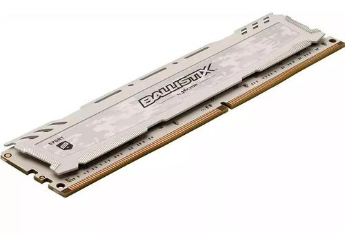 memoria ram 4gb crucial ballistix sport ddr4 2400 mhz white