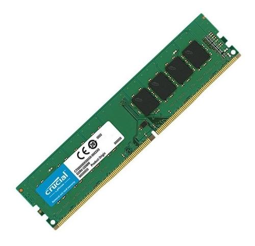 memoria ram 4gb ddr4 2666mhz crucial udimm 1.2v pc blister