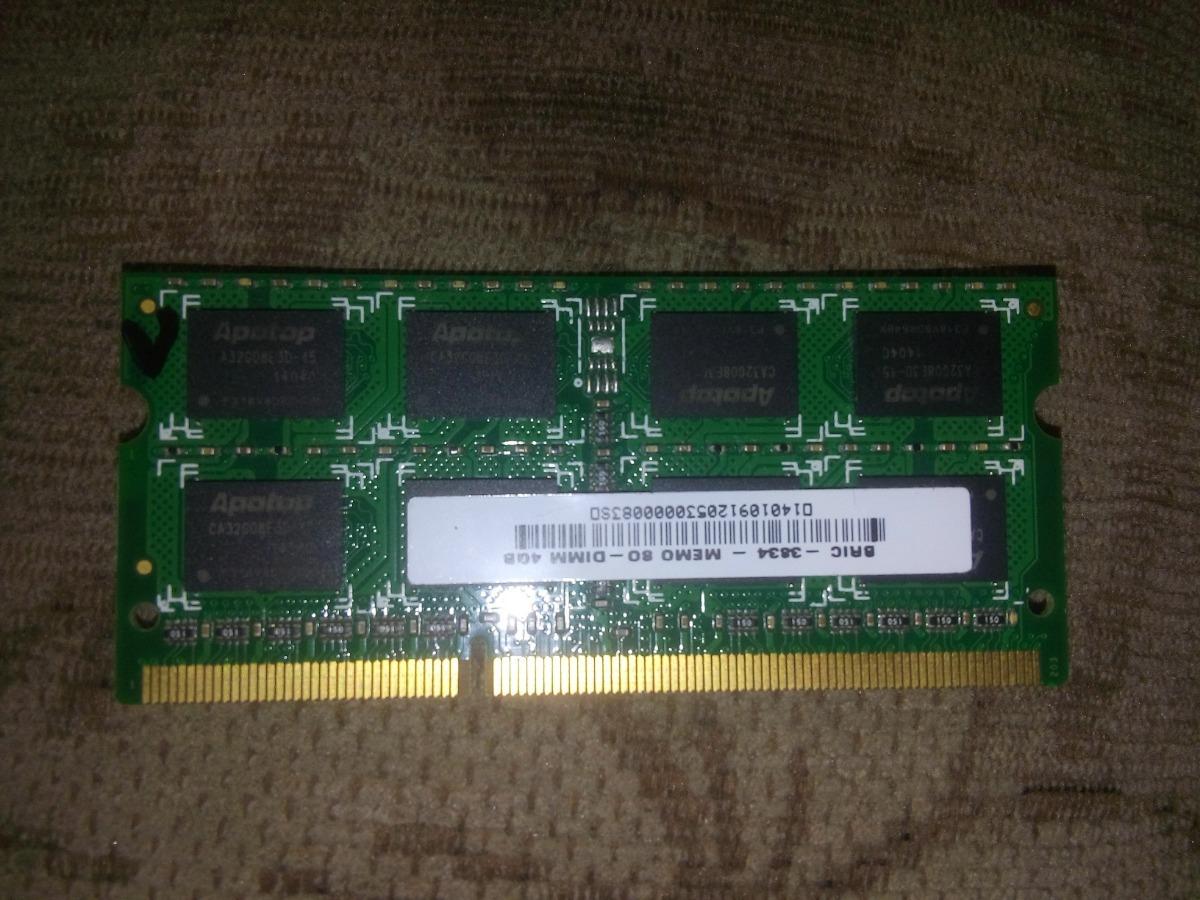 162ad3bfe6b3a Memória Ram 4gb Ddr3l - 1333mhz Notebook Usado - R  110