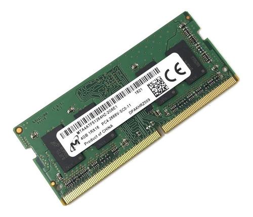 memoria ram 4gb sodimm micron dd4 2666 pc4-21300