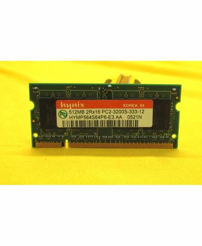 memoria ram 512mb 2rx16 pc2-3200s hynix ipp4