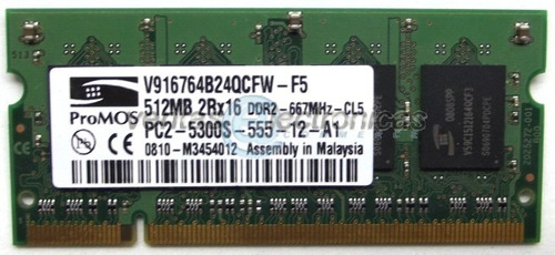memoria ram 512mb ddr2 pc2-5300 ipp4