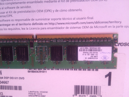 memoria ram 512mg ddr2