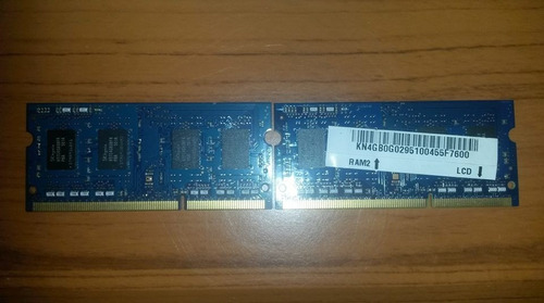memoria ram 6 gb ddr3 para laptop (como nueva / negociable)