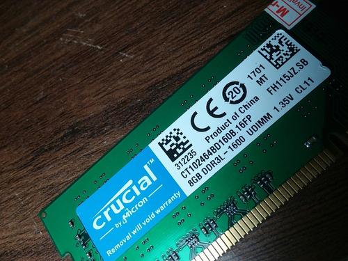 memoria ram 8 gb ddr 3 - 1600