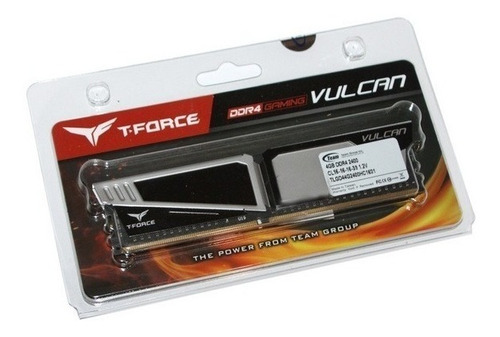 memoria ram 8gb ddr4 gamer 2400 gris t force vulcan team