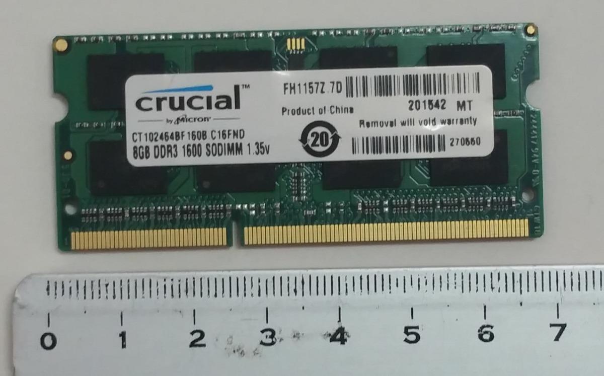 Memoria Ram 8gb 1600mg 1 35v Sodimm Para Laptop Bs 468 00 En