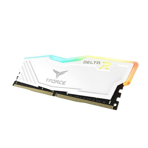 memoria ram 8gb t force delta rgb ddr4 2400 team blanco led