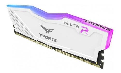 memoria ram 8gb t force delta rgb ddr4 2400 team blanco led