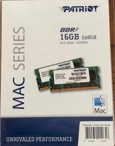 memoria ram 8gbx2 = 16gb ram macbook