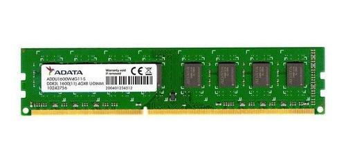 memoria ram adata 4gb para pc ddr3l 1600 mhz