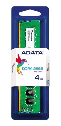 memoria ram adata ad4u2666j4g19-s - 4 gb
