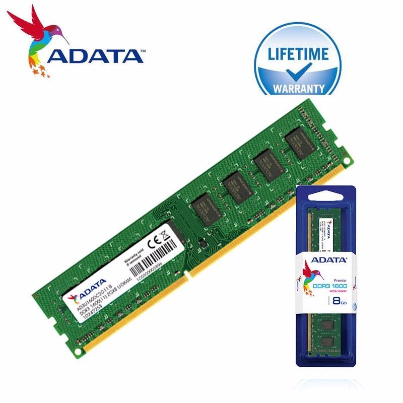 4e0610f7a6c Memoria Ram Adata U-dimm Ddr3 Pc1600 8gb Escritorio Pc - $ 195.900 en Mercado  Libre