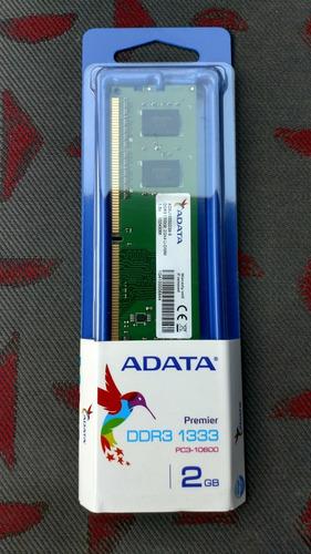 memoria ram adata udimm ddr3 2gb pc3-10600 1333mhz 240p /m