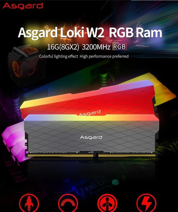 Memória Ram Asgard Rgb 16gb(2x8) 3200mhz Cl16