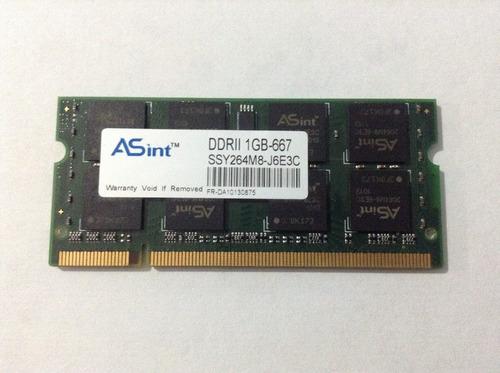 memoria ram asint 1gb ddr2 667 para laptop
