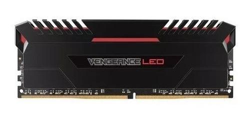 memoria ram corsair vengeance led ddr4 red 2x8gb 2666 mhz pc
