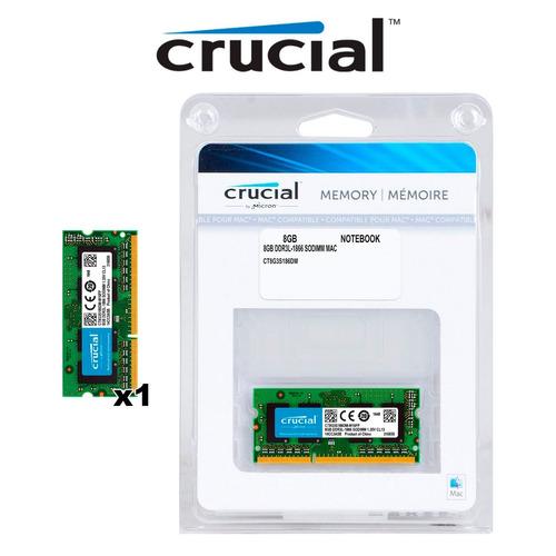 memoria ram crucial 8gb 1x8gb ddr3l-1866 imac 5k late 2015