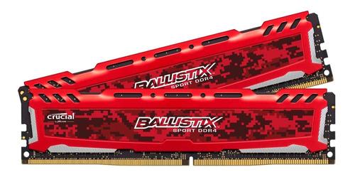 memoria ram crucial ballistix sport ddr4 16gb 2400 gamer ed.
