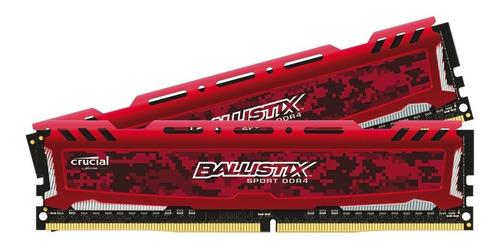 memoria ram crucial ballistix sport ddr4 4 gb 2400 gamer ed.