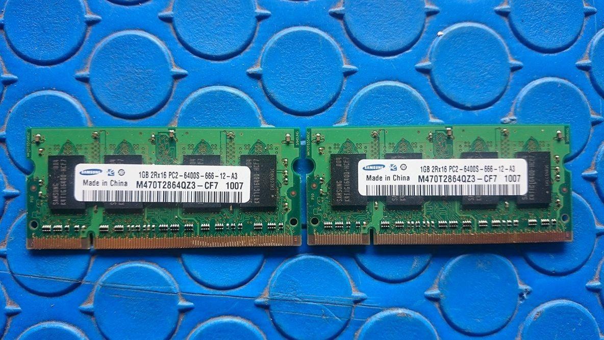 Memoria Ram Samsung Ddr2 1gb 2rx16 Pc2 6400s 666 12 A3 Lap