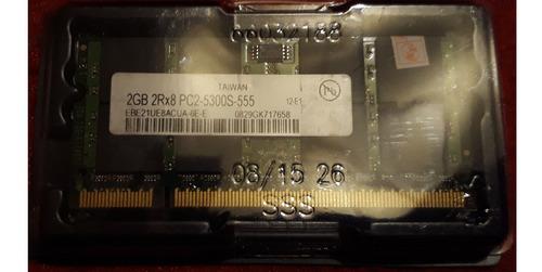 memoria ram ddr2 2gb  667mhz pc2-5300s notebook instalada