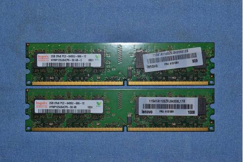 memoria ram ddr2 2gb a 800/667mhz pc lote de 2 piezas remat