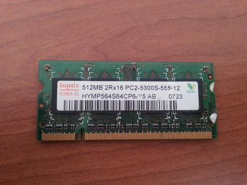 memoria ram ddr2 512mb pc2-5300 667mhz cl5 hynix notebook