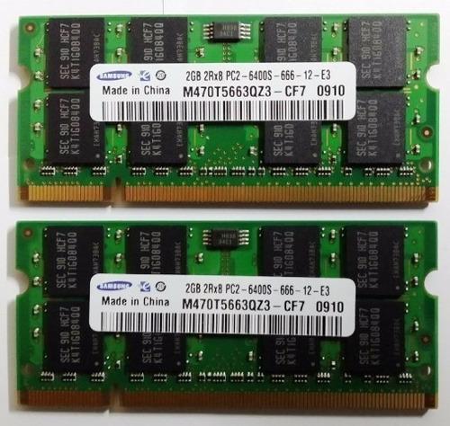 memoria ram ddr2 de 2gb para laptop