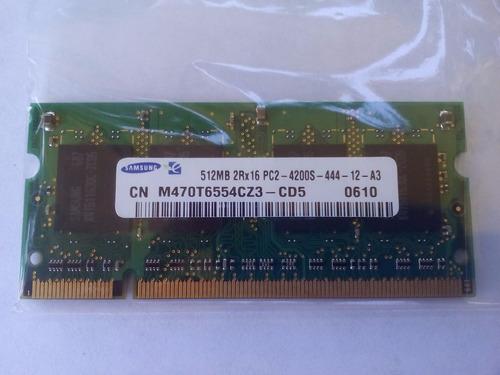 memoria ram ddr2 de 512mb, marca samsung