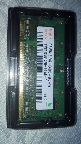 memoria ram ddr2 so dimm hynix 1gb pc2-6400s-666-12