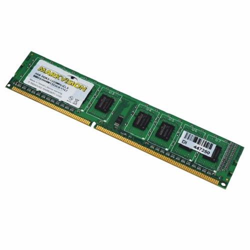 memoria ram ddr3 2gb markvision para pc, pc10600 - 1333 mhz