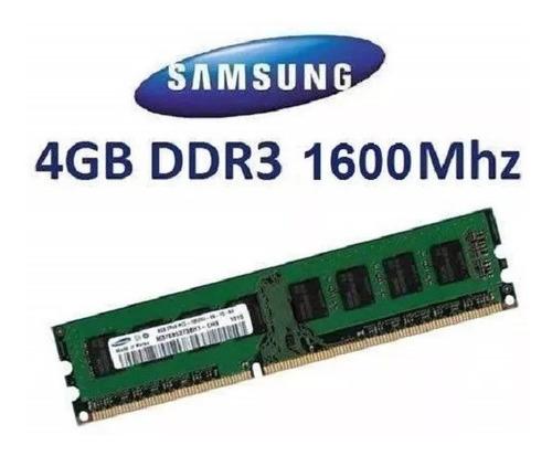 memoria ram ddr3 4 gb para pc marcas samsung micron hynix
