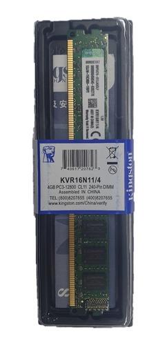 memoria ram ddr3  4g kingston 12800/1600 nueva tienda