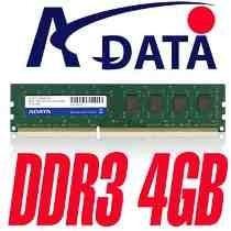 memoria ram ddr3 4gb 1333 pc3 10600 adata 1.5v para pc nueva