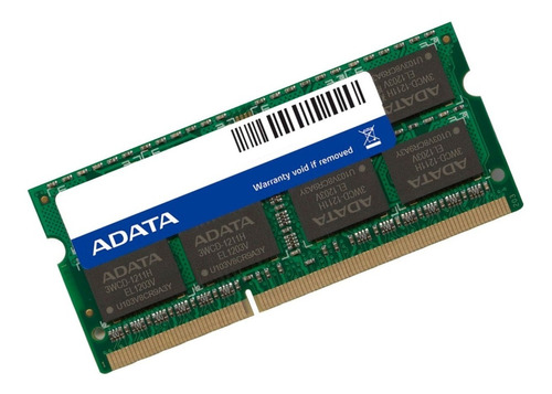 memoria ram ddr3 4gb 1333mhz adata laptop ad3s1333w4g9-s