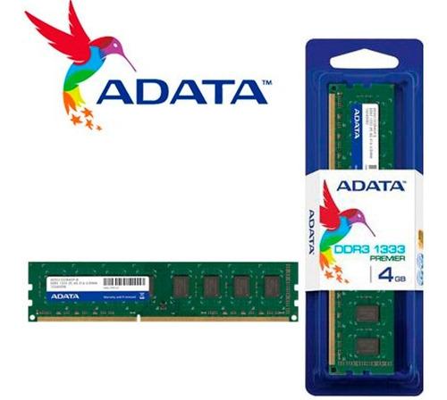 memoria ram ddr3 4gb 1333mhz adata premier pc ad3u1333w4g9-s