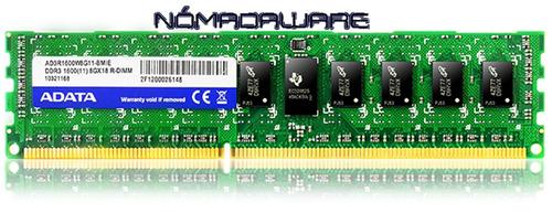 memoria ram ddr3 4gb adata pc-1600 pc3-12800 blue