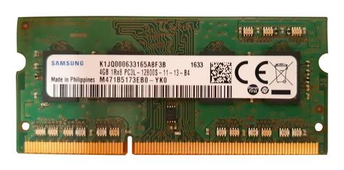memoria ram ddr3 4gb samsung 1rx8 pc3l-12800s laptop
