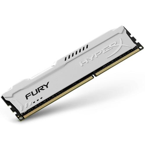 memoria ram ddr3 8gb 1600mhz hyperx fury white hx316c10fw/8